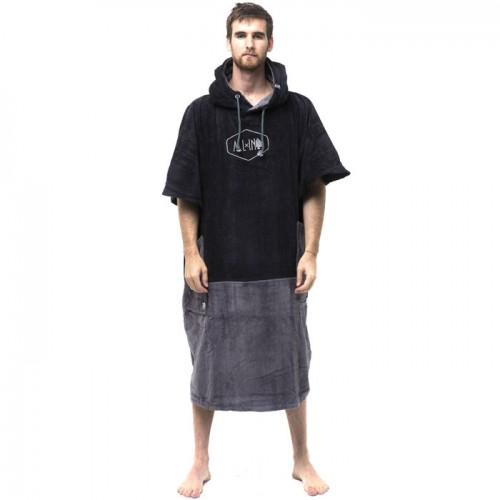 Big Foot Poncho Black / Charcoal
