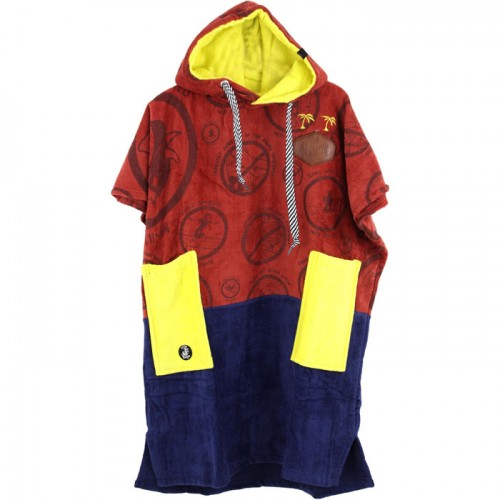 Junior V Poncho Little Dragon Beach Code / Navy / Yellow