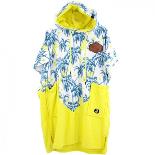 Junior V Poncho Little Dragon Palm Tree / Yellow Fluo