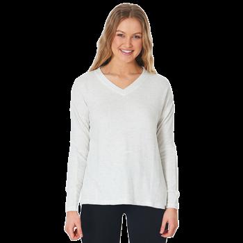 Sweatshirt pour femme col V...