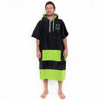 V Poncho Flash Black Green